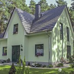 Einfamilienhaus Seitenansicht