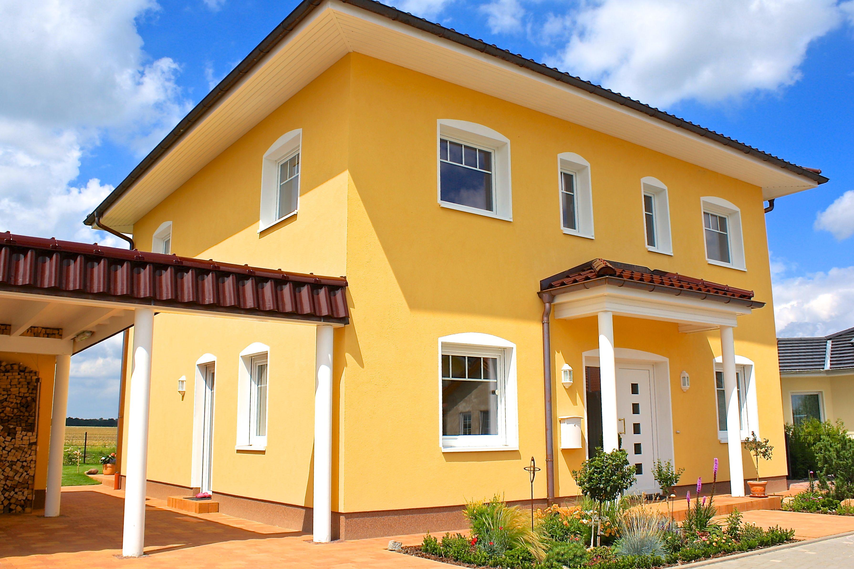 Stadtvilla mediterran  Marco Heise Bau GmbH - mediterrane Stadtvilla mit zwei Vollgeschossen